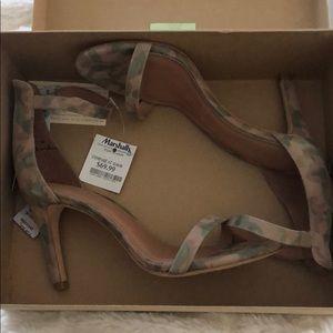 "Cutest ""camo"" high heeled sandals."